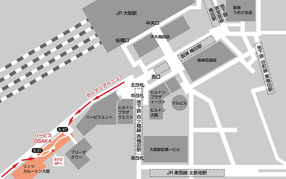 Dメディカルクリニック大阪 アクセスマップ